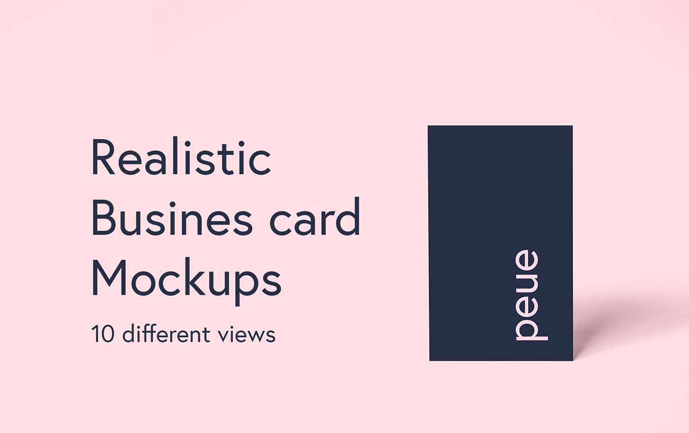 Peue realistic business card mockup on behance colourmoves