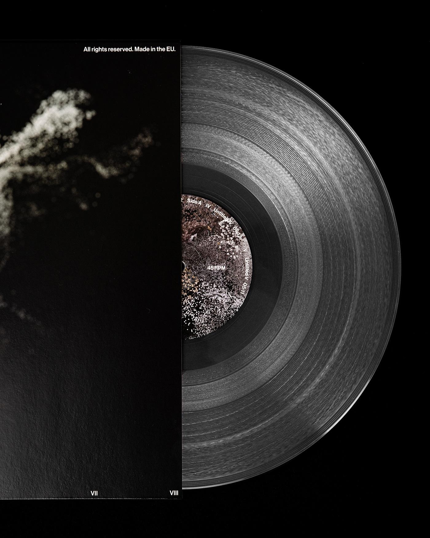 3D AR augmented reality graphic design  music rendering swiss design typography   vinyl Vinyl Cover