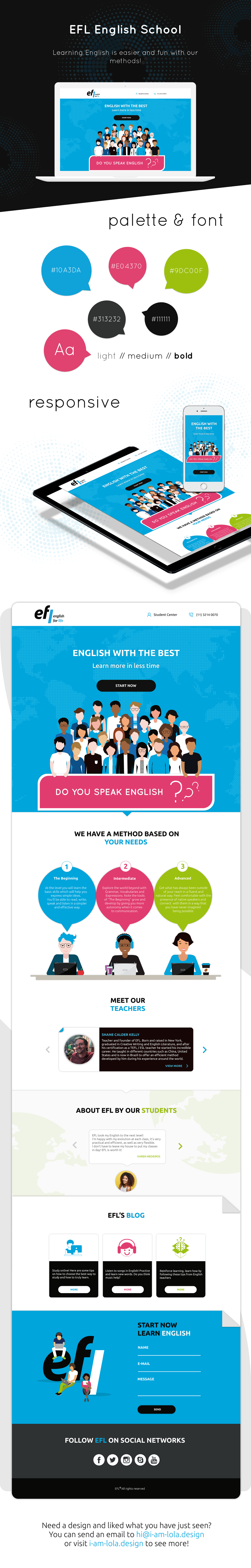english school landingpage ILLUSTRATION  creation Web