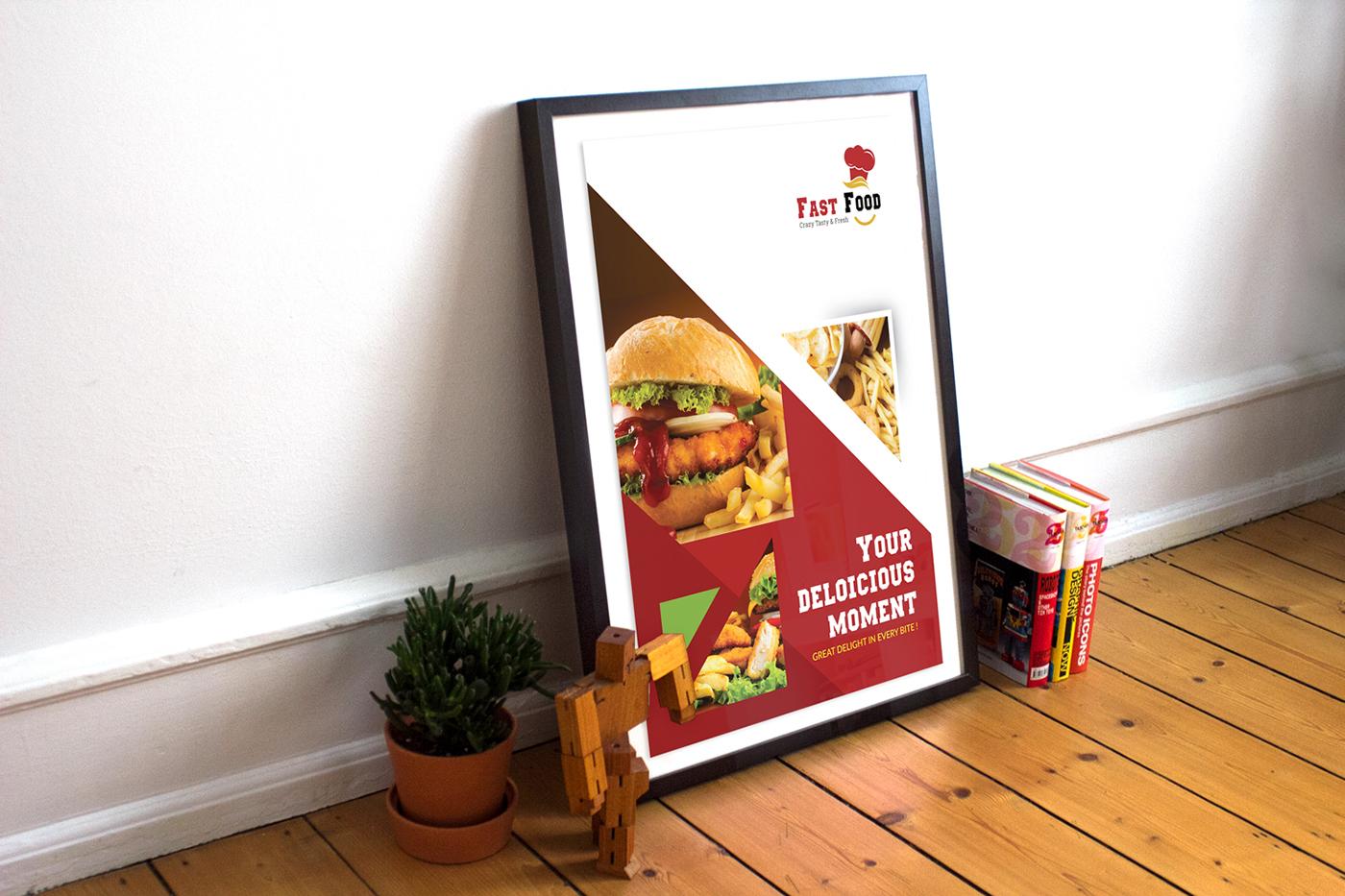 fast food flyer design free mock up psd on behance