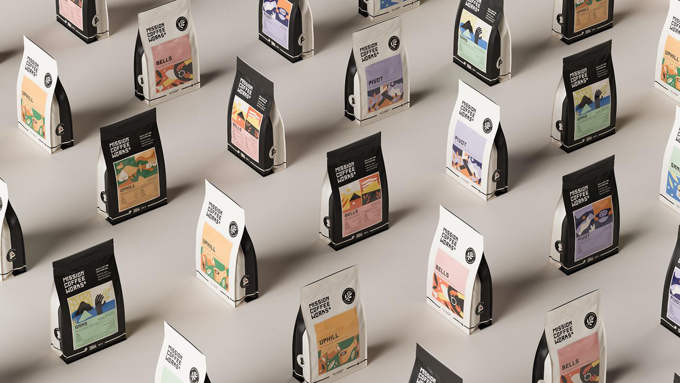 Coffee coffee brand identity coffee branding Coffee Design coffee packaging coffee packaging design coffee rebrand Craft Coffee craft coffee branding drinks packaging design