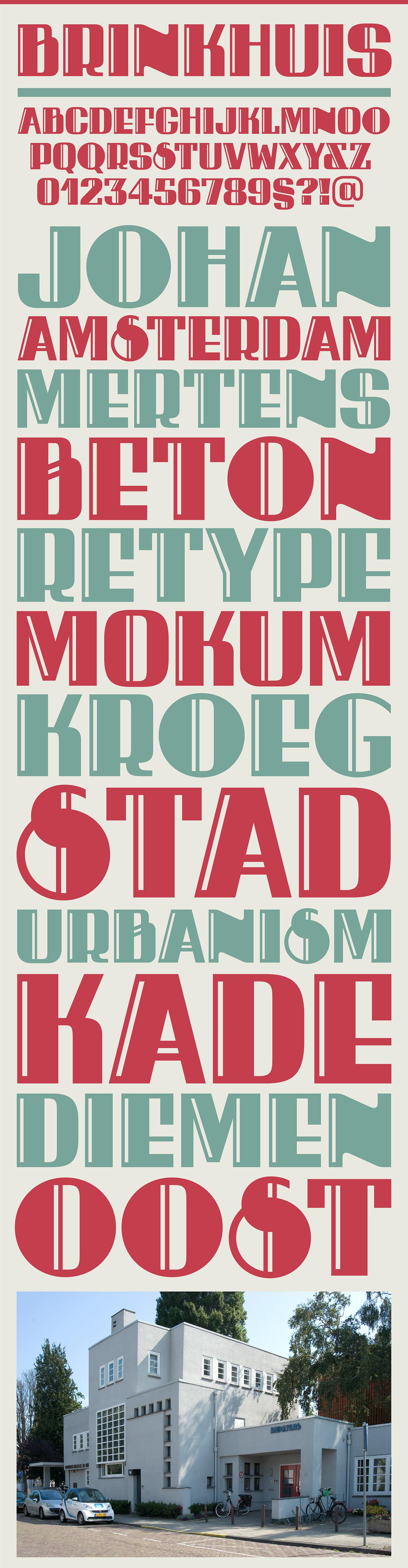 amsterdam Amsterdamse school architect letters modular poster font Ramiro Espinoza vernacular