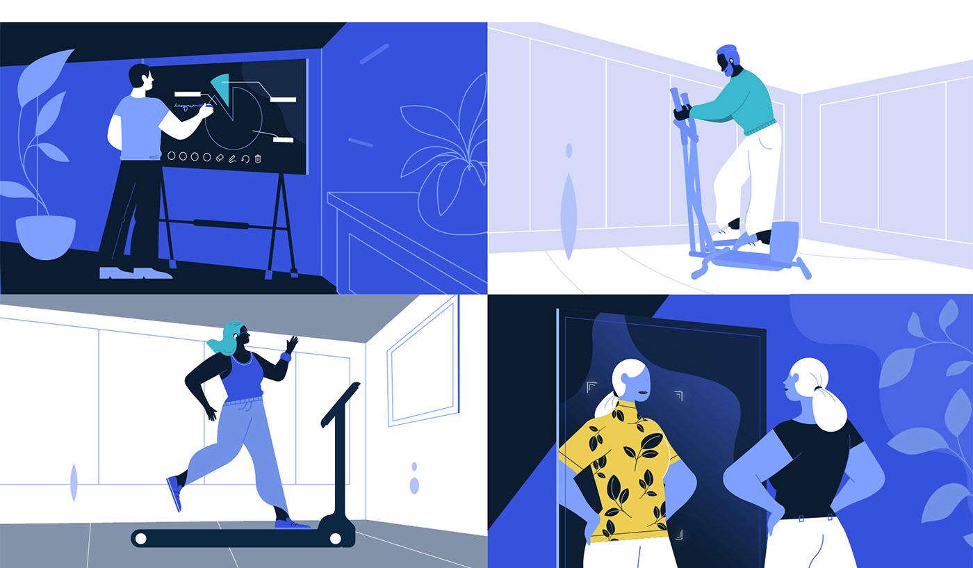 2D animation  design motion Qualcomm