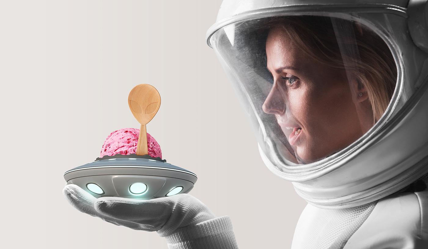 ice cream Space  sorvete CBD organic alien cannabis icecream 冰淇淋