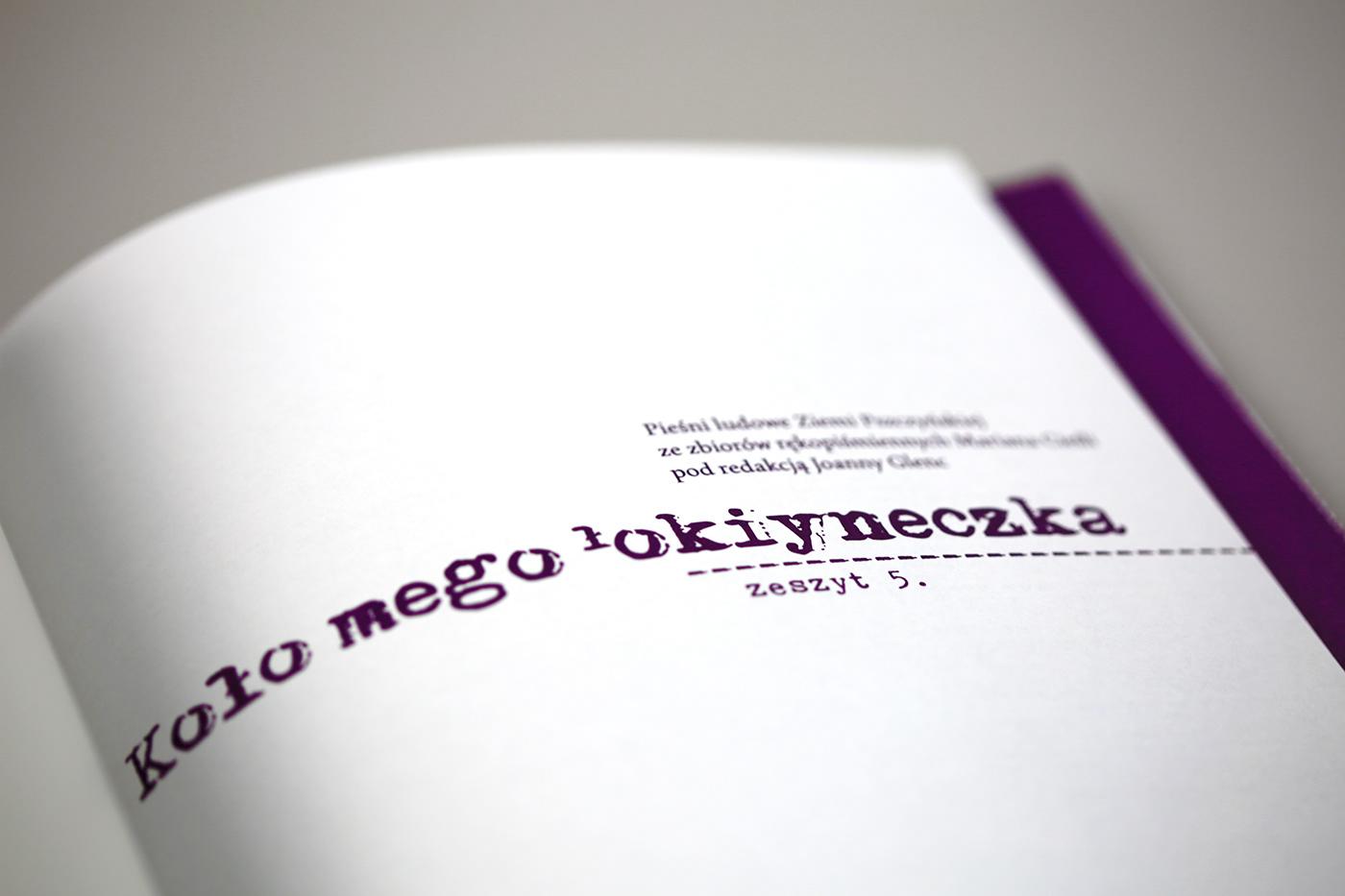 śpiewnik rękopis etno muzyka music śląskie pieśni songs Wydawnictwo nuty