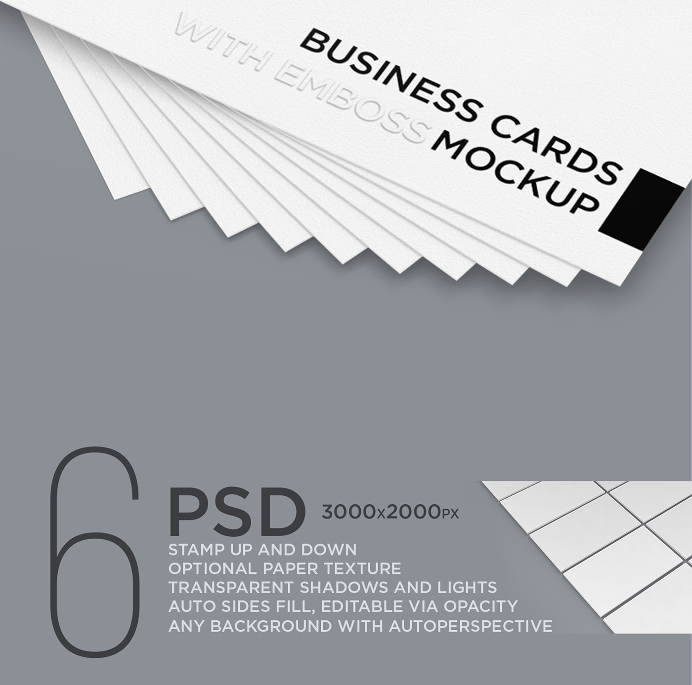 Business Cards with Emboss Mockup on Behance