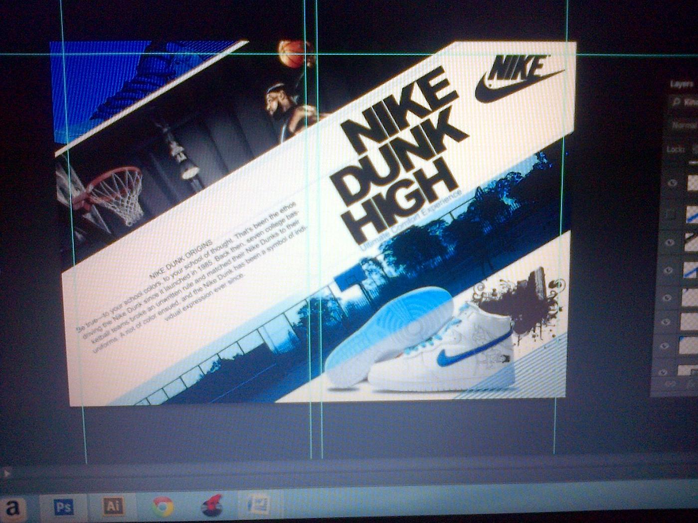 c507700e4fc0 Nike Dunk High Brochure on Behance