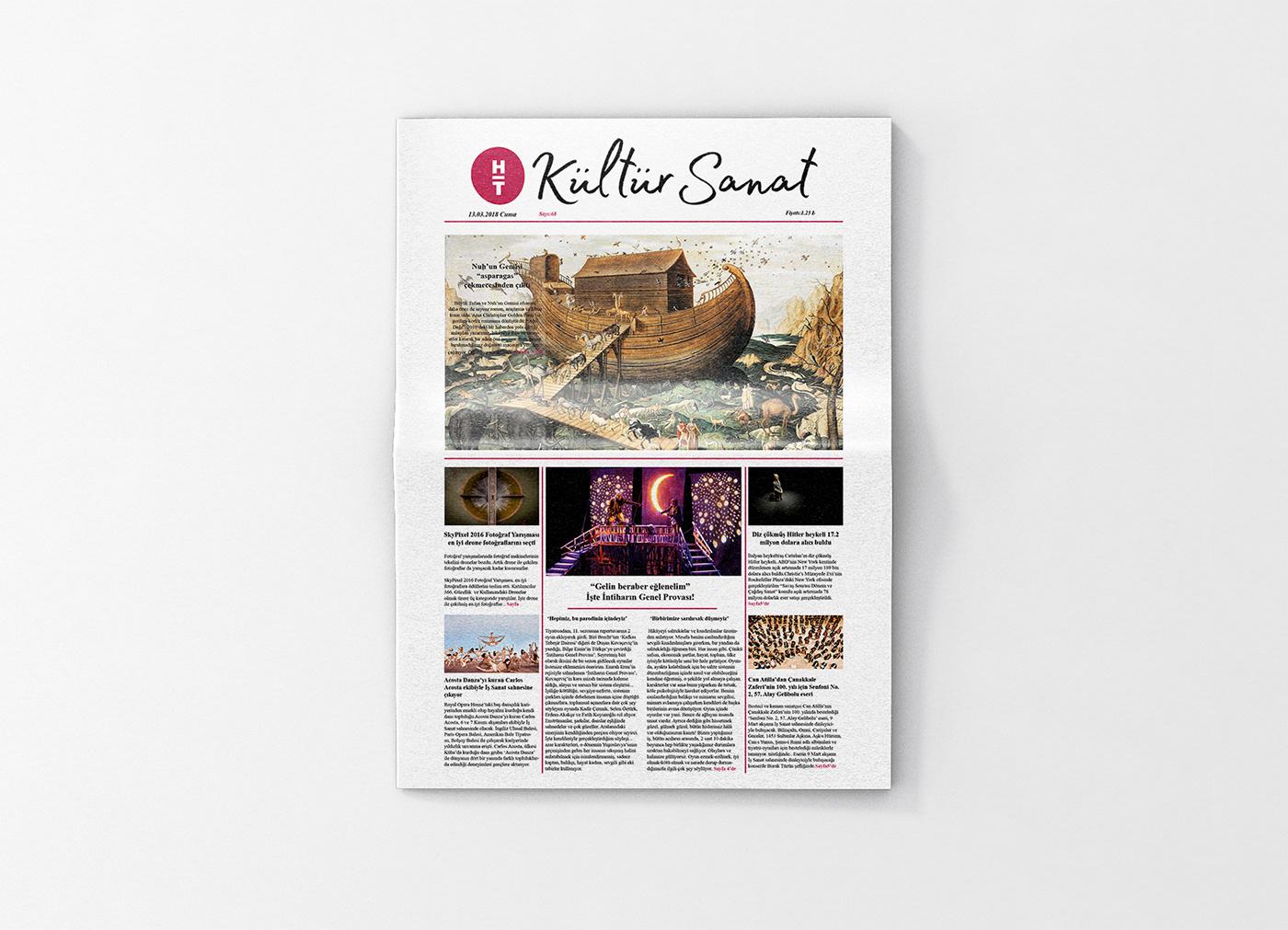 Kültür Sanat Newspaper Design
