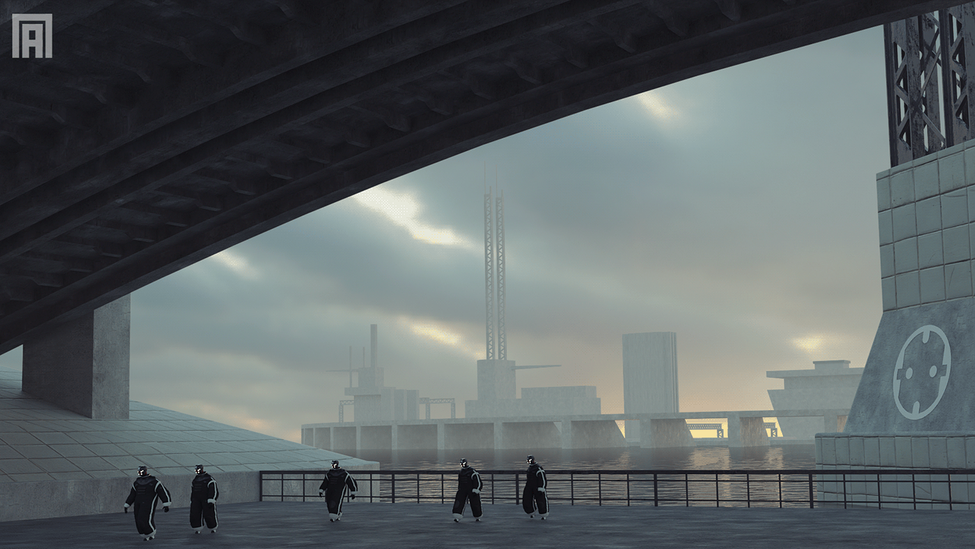 Image may contain: skyscraper, bridge and cloud
