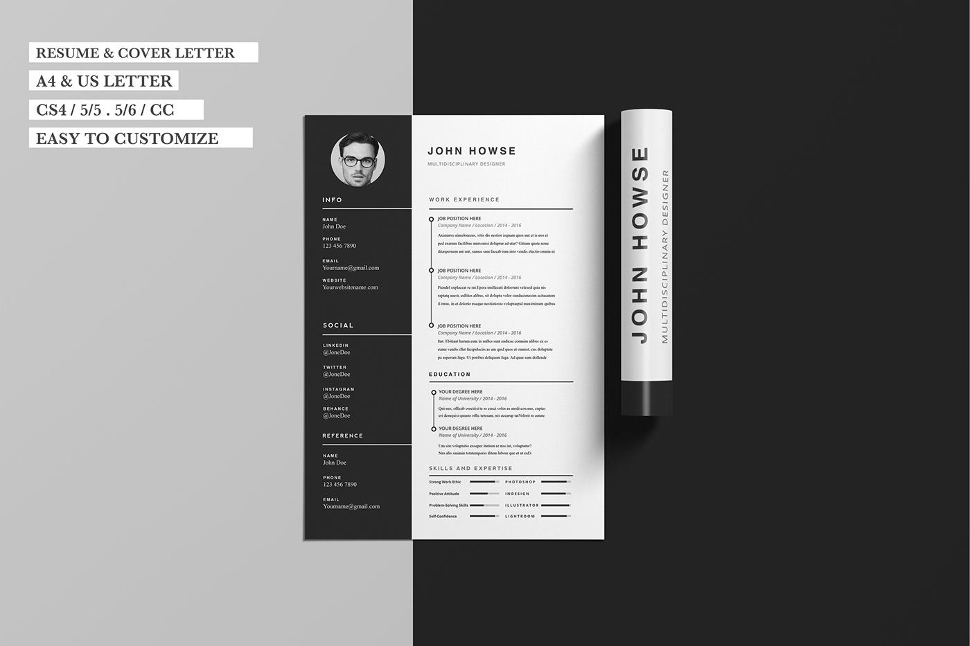 Resume CV freebie free template Free Resume Free Cover Letter free mock up Free Template resume example