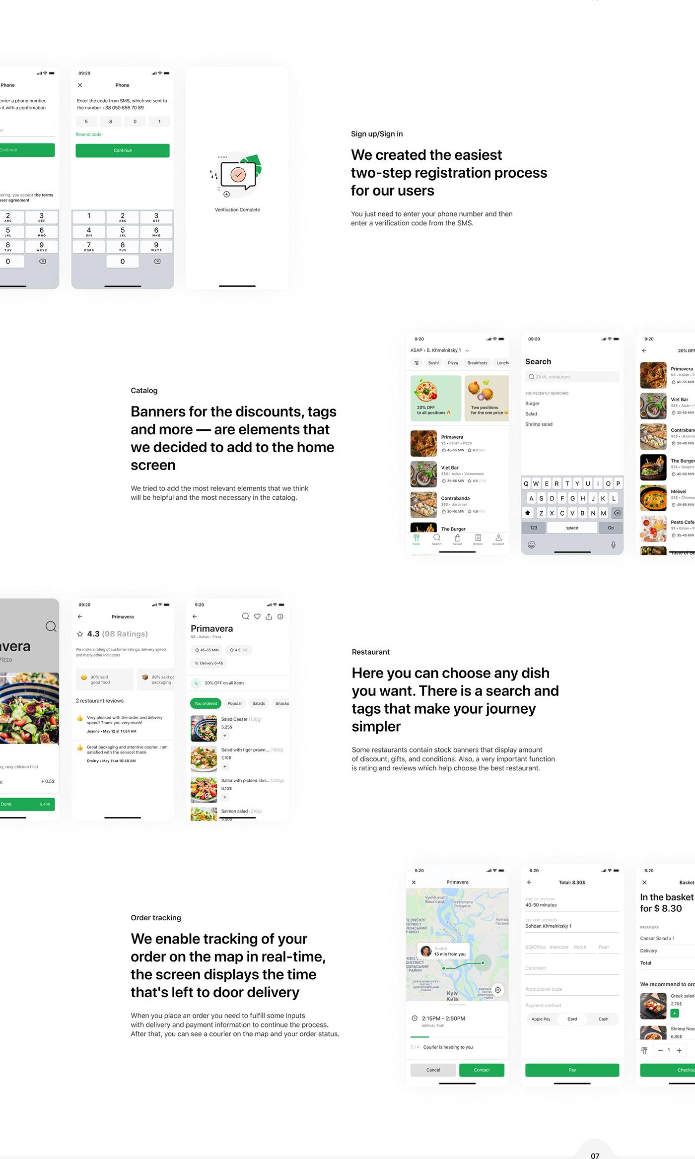 aggregator app catalog CJM delivery app Food  Mobile Application scheme sign up user flow