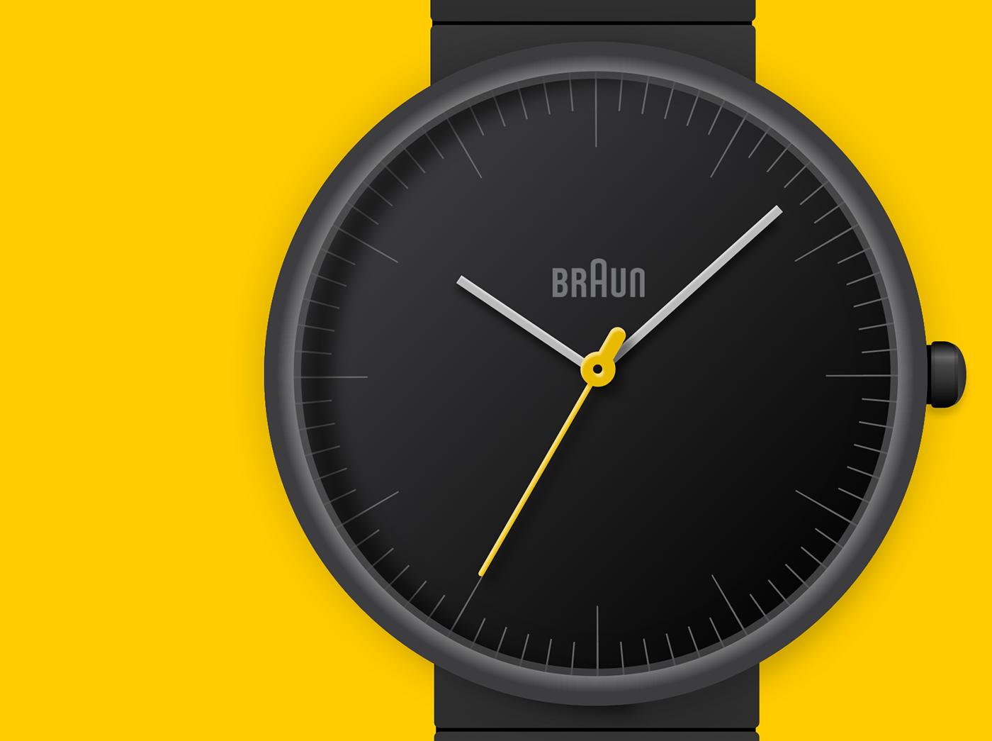 Braun Watch Free Vector Resource