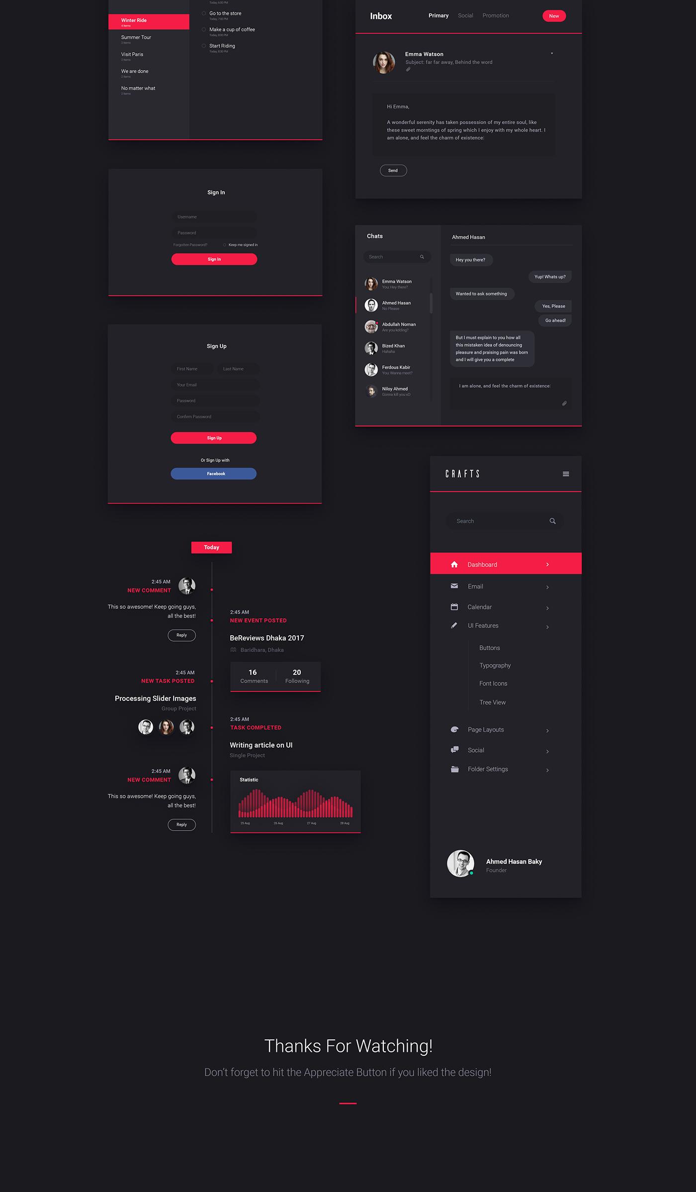 Carsive Dashboard UI Kit - Freebie