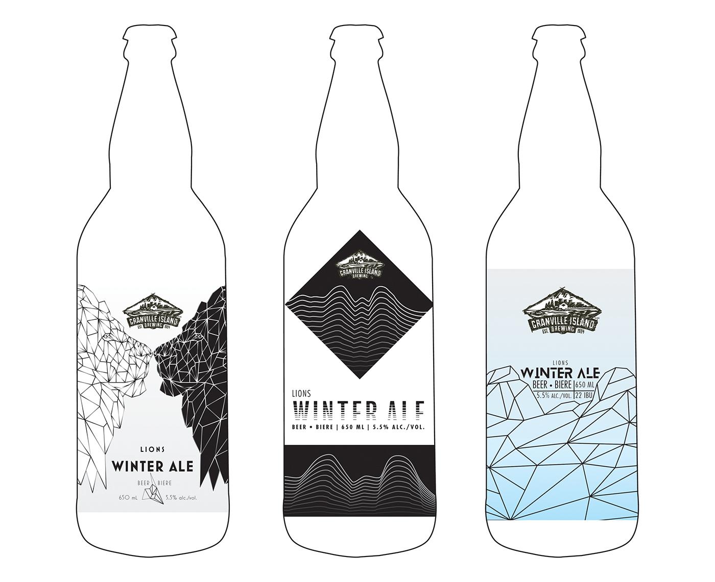 Beer Label Design ILLUSTRATION  Low Poly packaging design