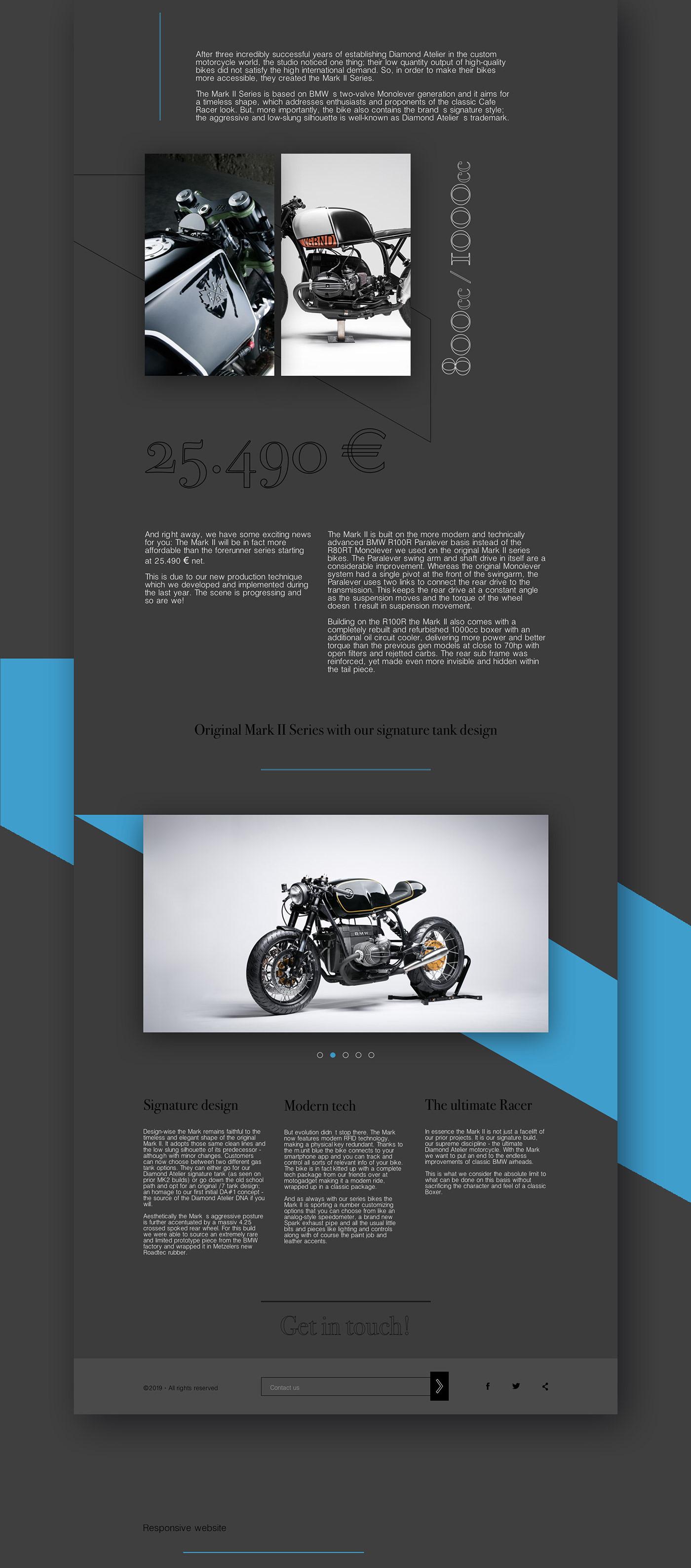 BMW Mark II | Landing page on Behance