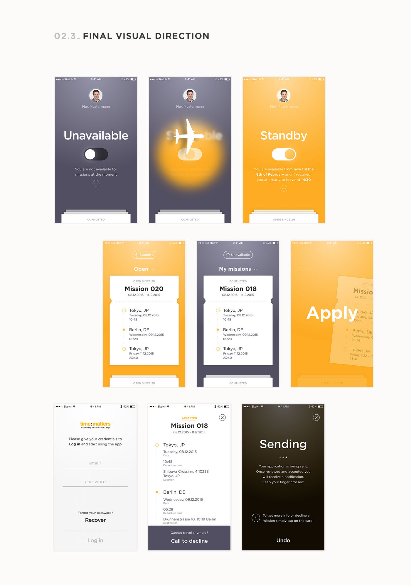 app ios android Interaction design  visual design user experience Travel flight courier shipping