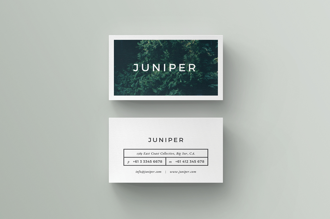 J U N I P E R Business Card On Behance - Indesign business card template free