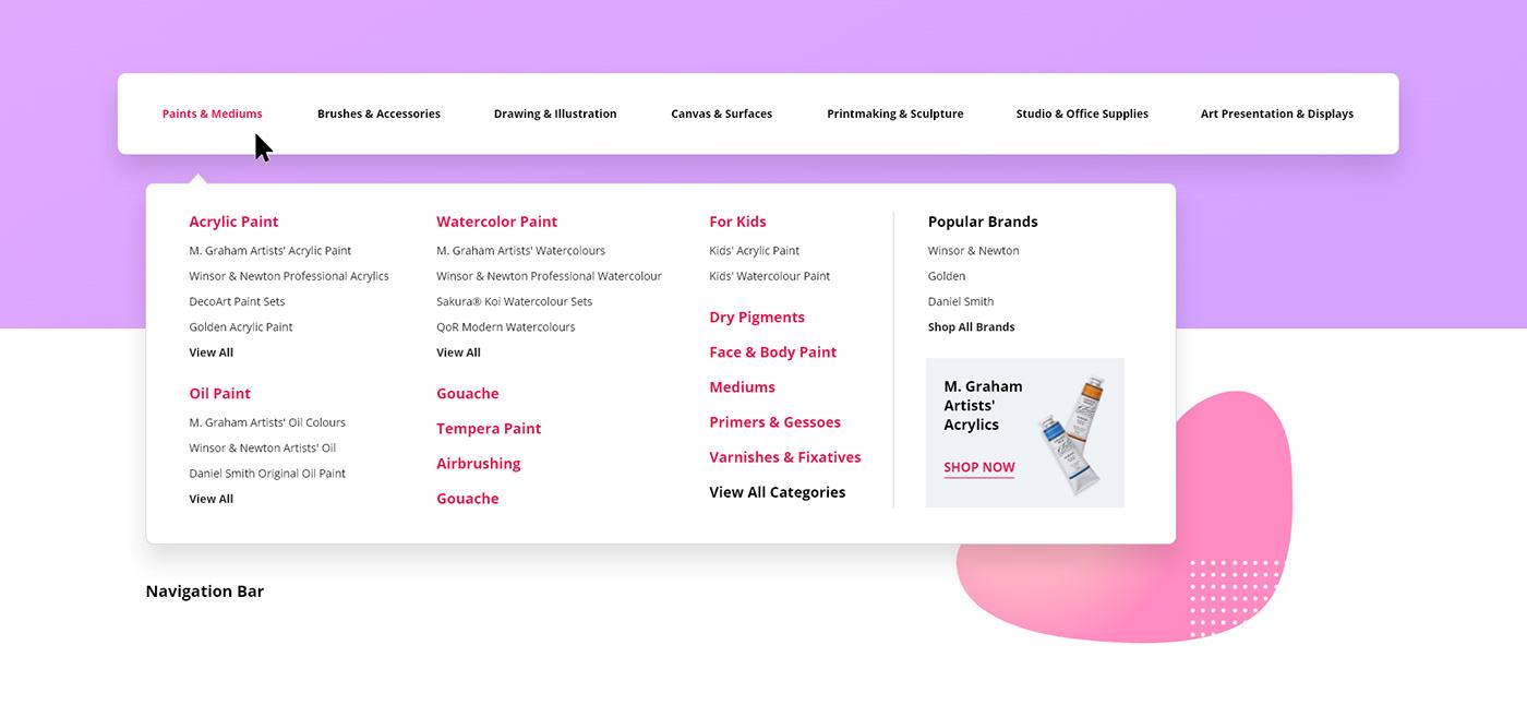 art concept Interface logo rebranding redesign store UI ux Website