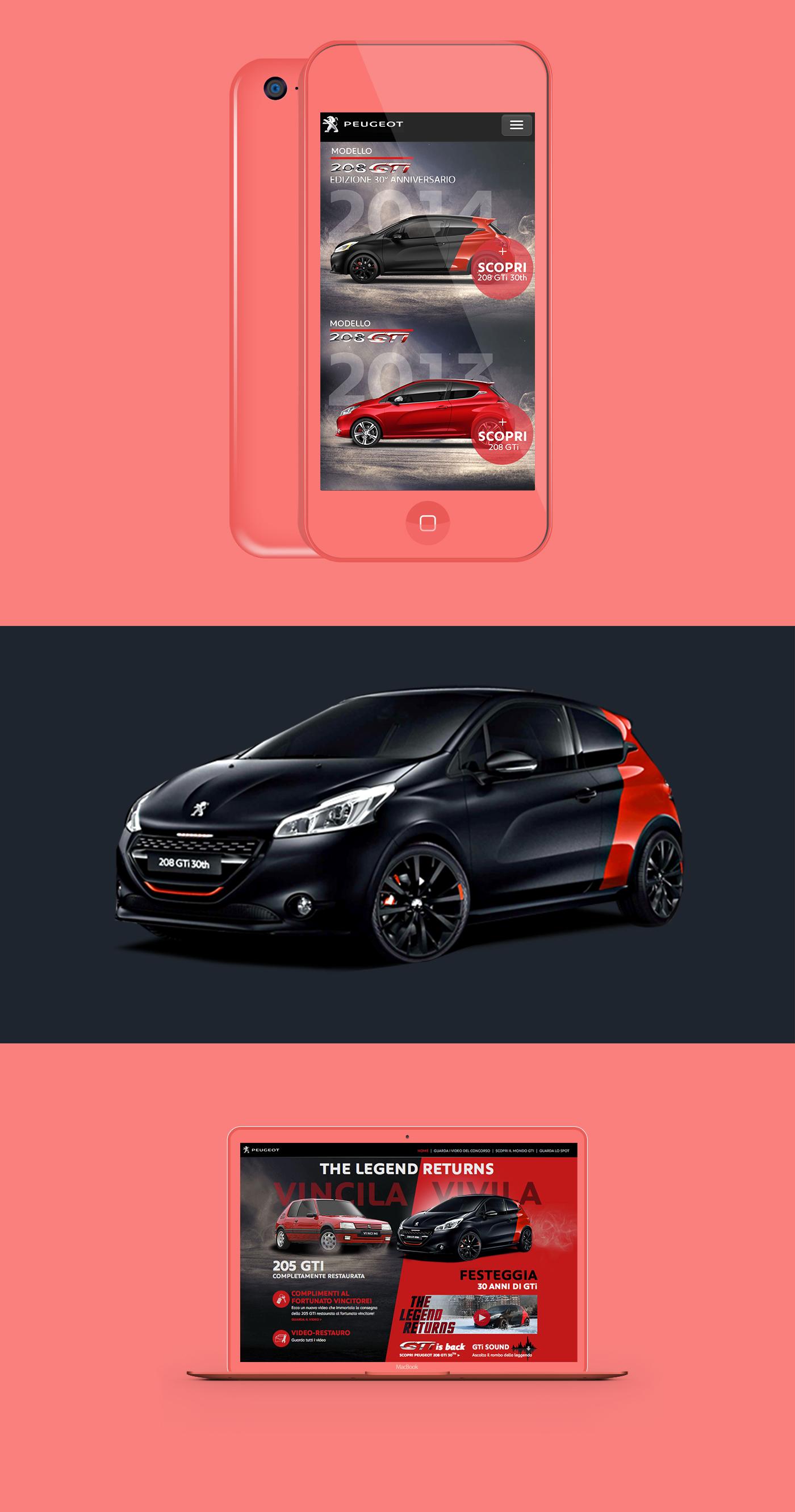 clean Mockup design color light contrast Website Layout iphone creative