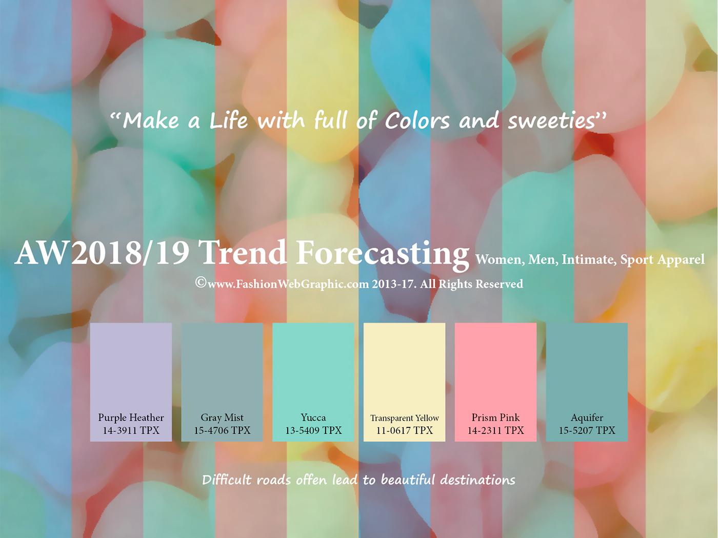 Spring 2017 Pantone Aw2018 2019 Trend Forecasting On Behance