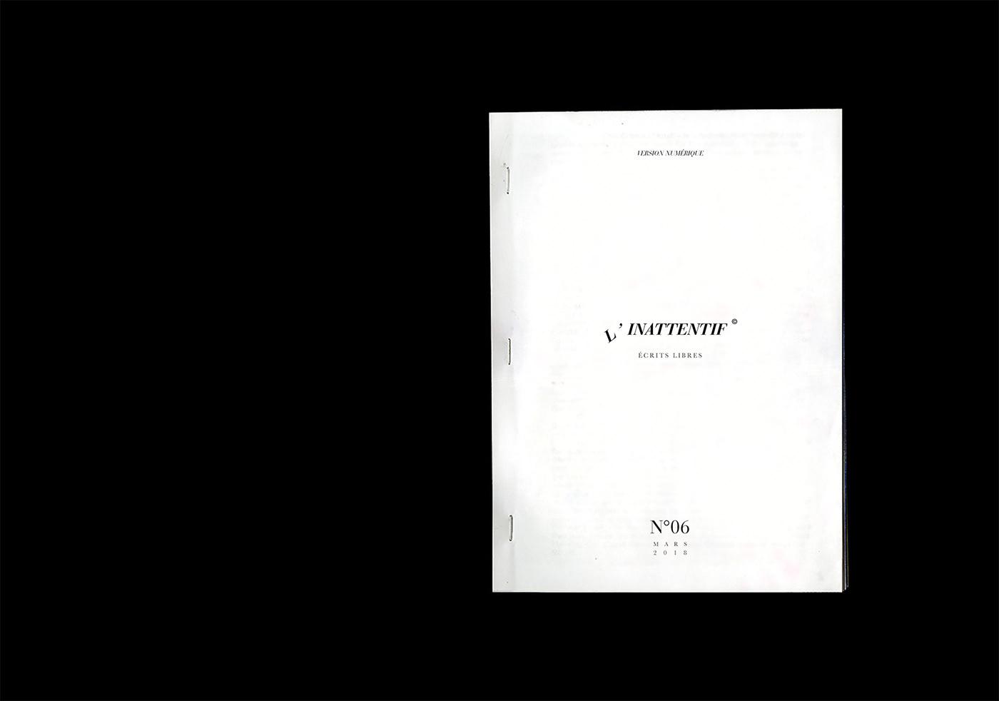 magazine French print inattentif Independent