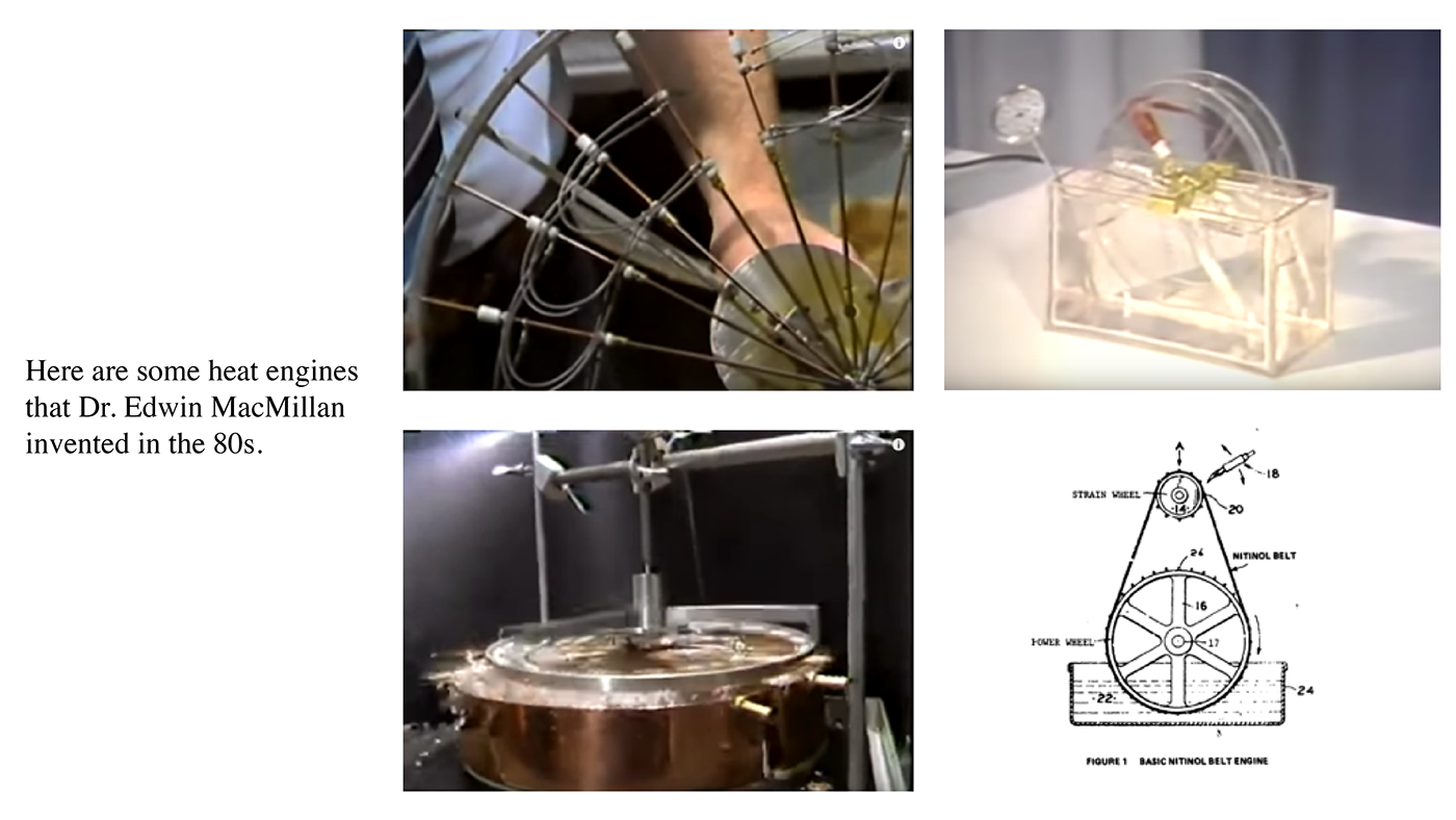 smart material nitinol Nitinol Wire oil spill Sustainable cool heat engine engine research research project