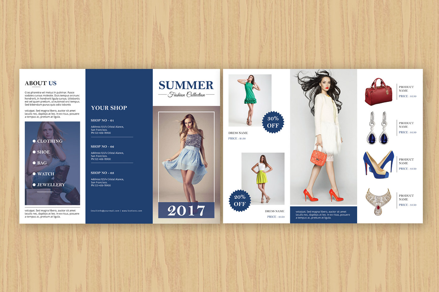 Fashion Product Brochure Template On Behance