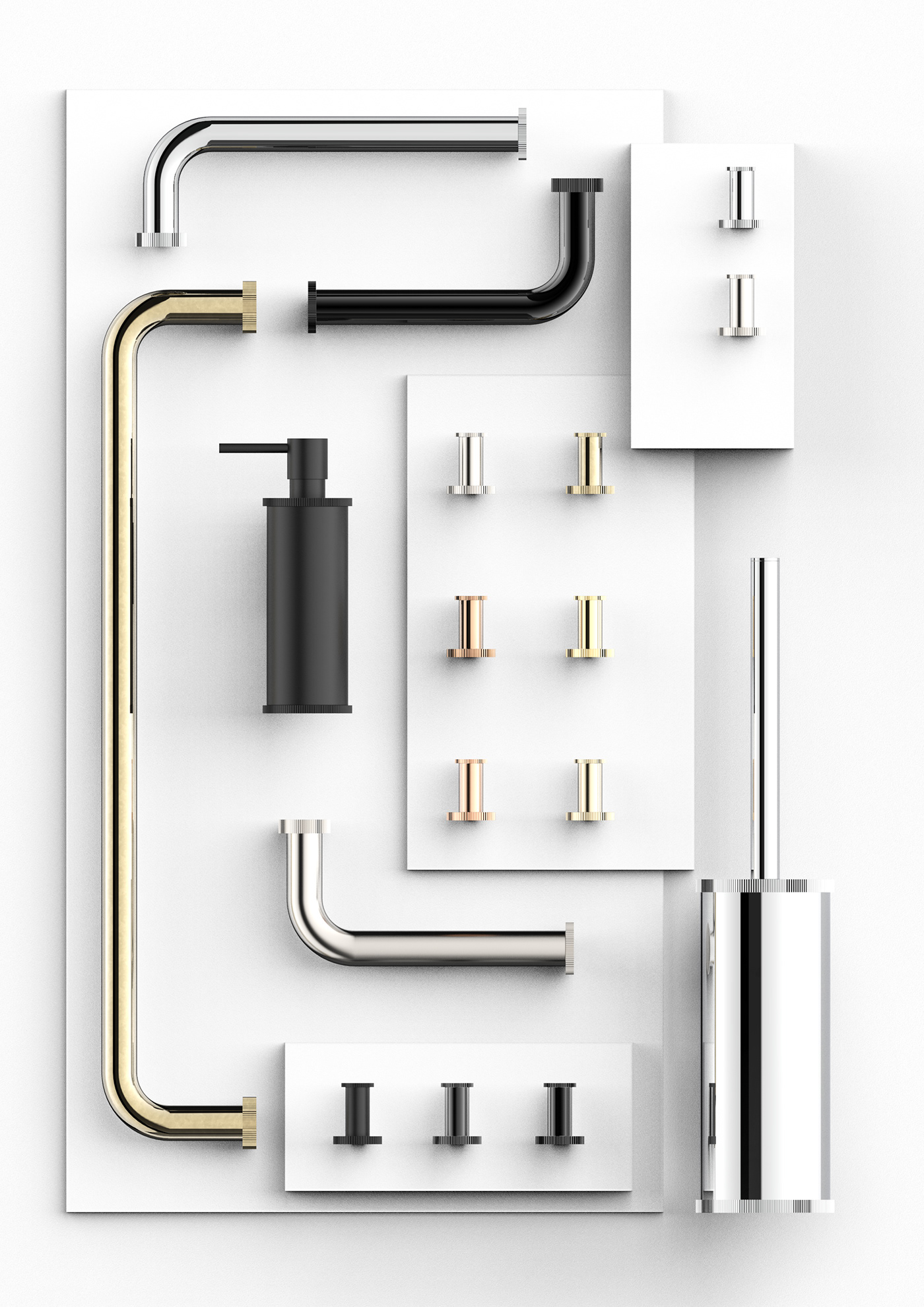 arredo bagno bagno comando remoto Prodotto product design  Progettazione di prodotto rubinetterie rubinetto