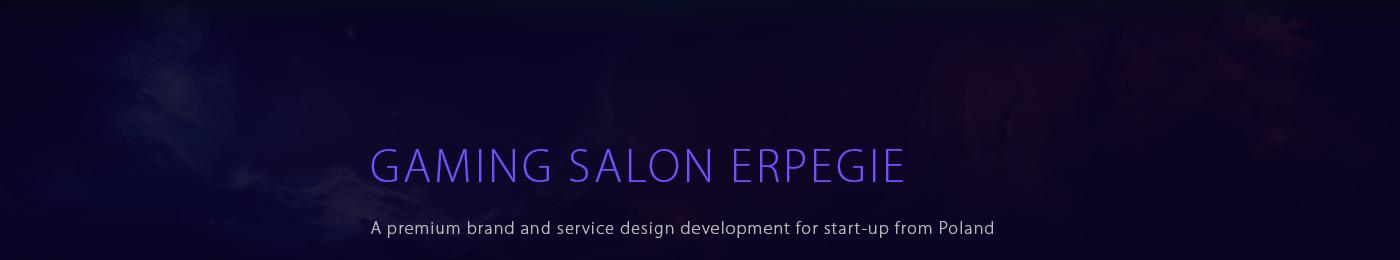 gaming salon ux/ui Webdesign Responsive