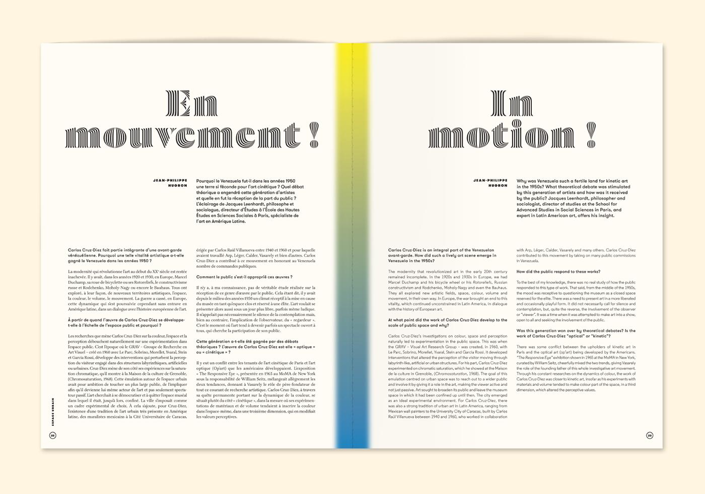 kinetic and op artist Carlos Cruz Diez l'architecture d'aujourd'hui font editorial type colour contemporary art Violaine & Jeremy