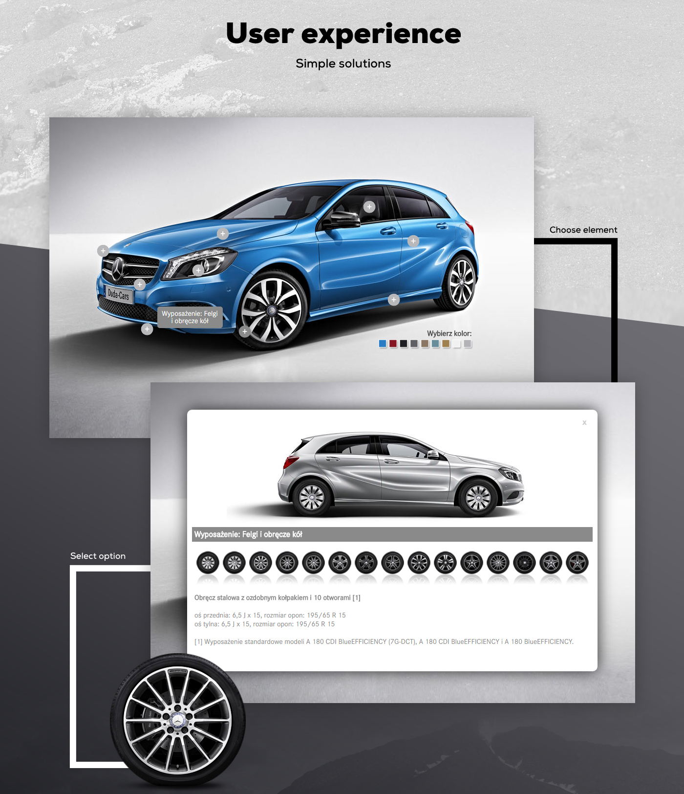 ux UI Webdesign onepage parallax Web design graphic mercedez Benz duda adstone poland poznan car