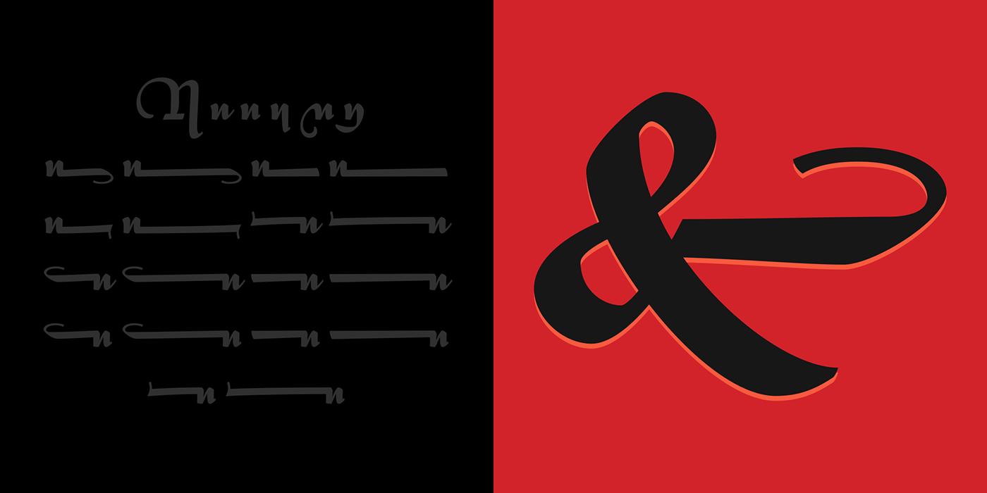 Typeface Display Script Civilité font