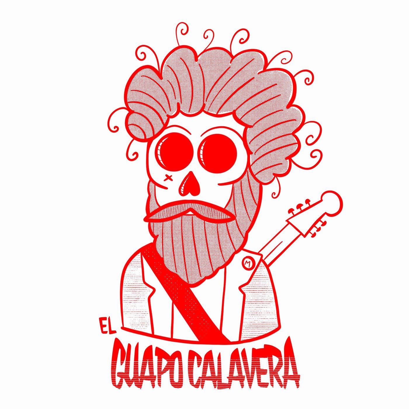 rock ilustracion Procreate calavera FletxeR studio Donosti donostia san sebastian