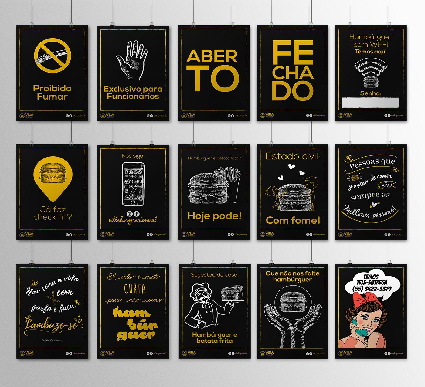 hamburguer menu cardápio criativo Ilustração Redes Sociais gifs alegre divertido logo