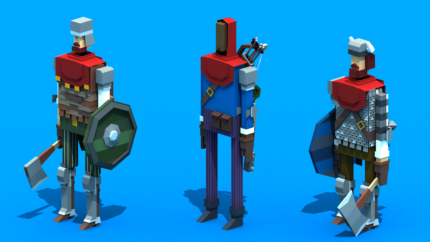 Character Design Jobs New York : Random low poly characters on behance