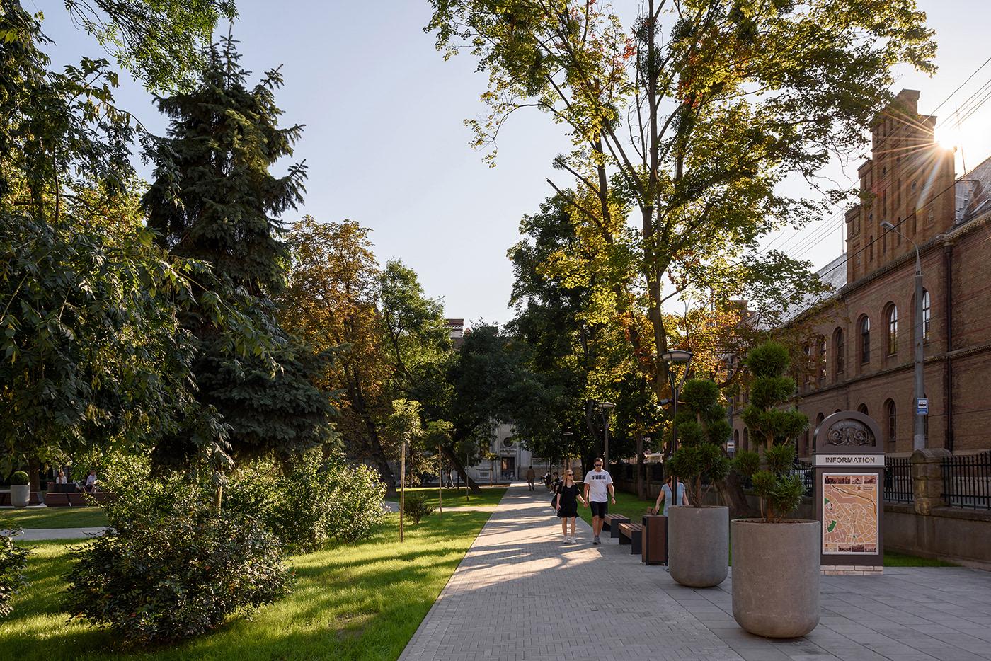 architecture exterior historical environments Landscape Landscaping Design Park public space square landscape photography ukraine