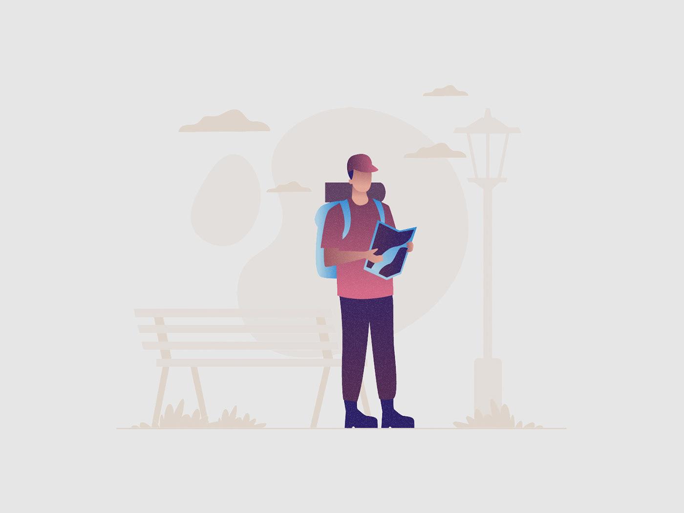 freebie ILLUSTRATION  Illustrator Travel travel illustration traveler vector vector design vector download Vector Illustration