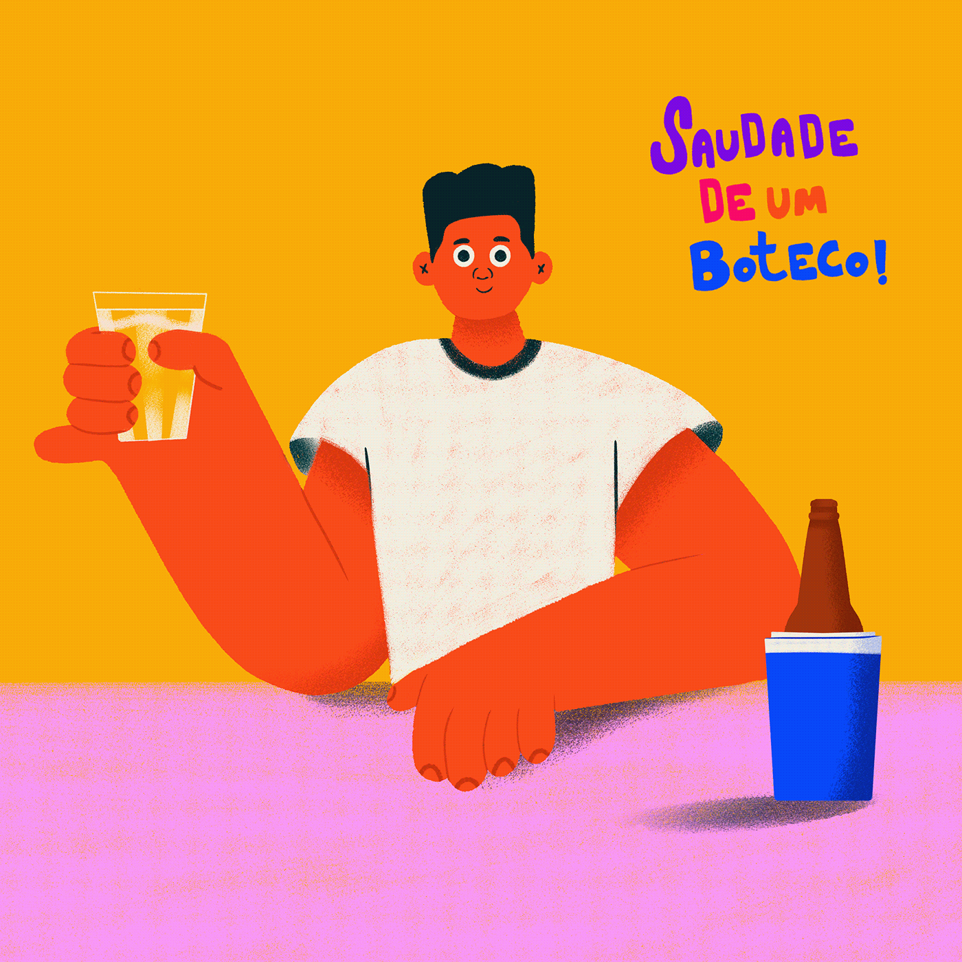 bar beer boteco Cerveja Character Character design  design digital painting editorial illustation Illustation