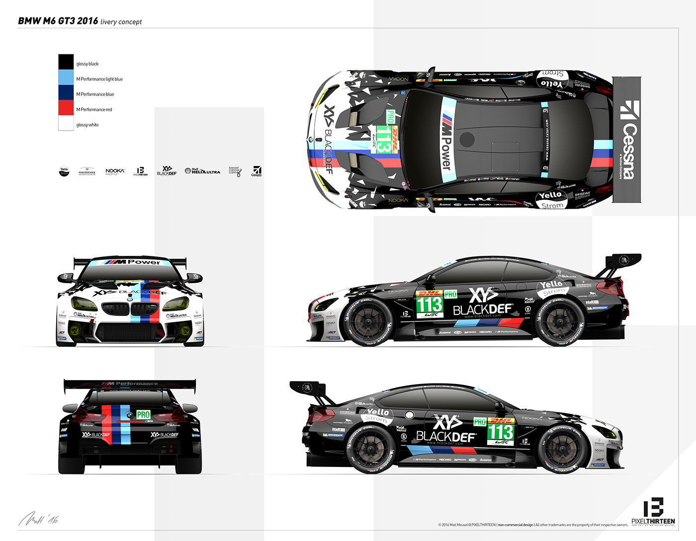Blackdef Bmw M6 Gt3 Livery Amp Artwork On Behance
