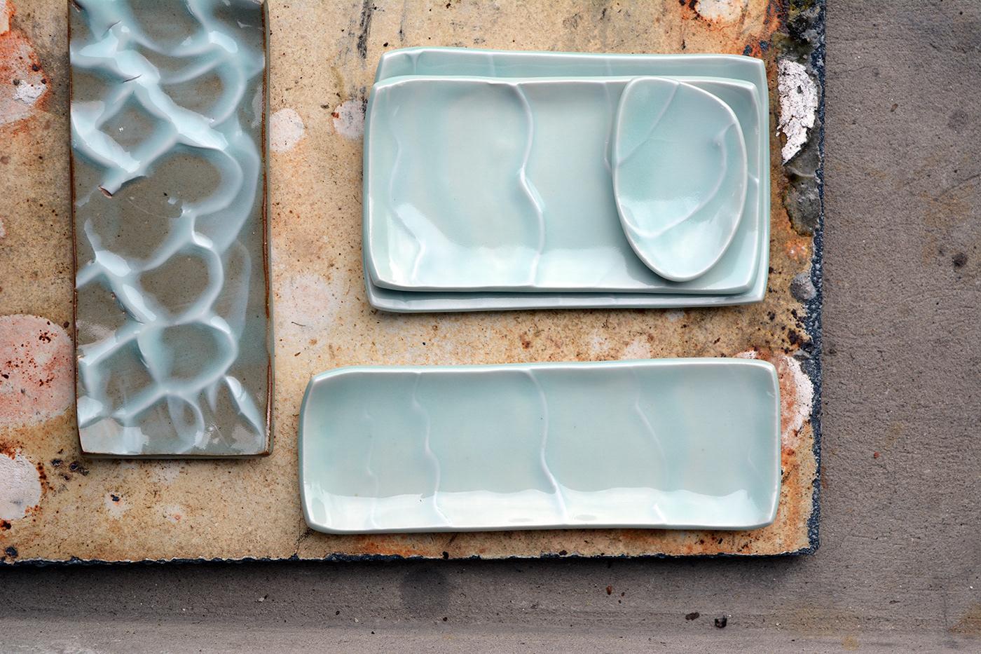 porcelain ceramics  organ Kraft craft handmadecarmics waves rain eternal