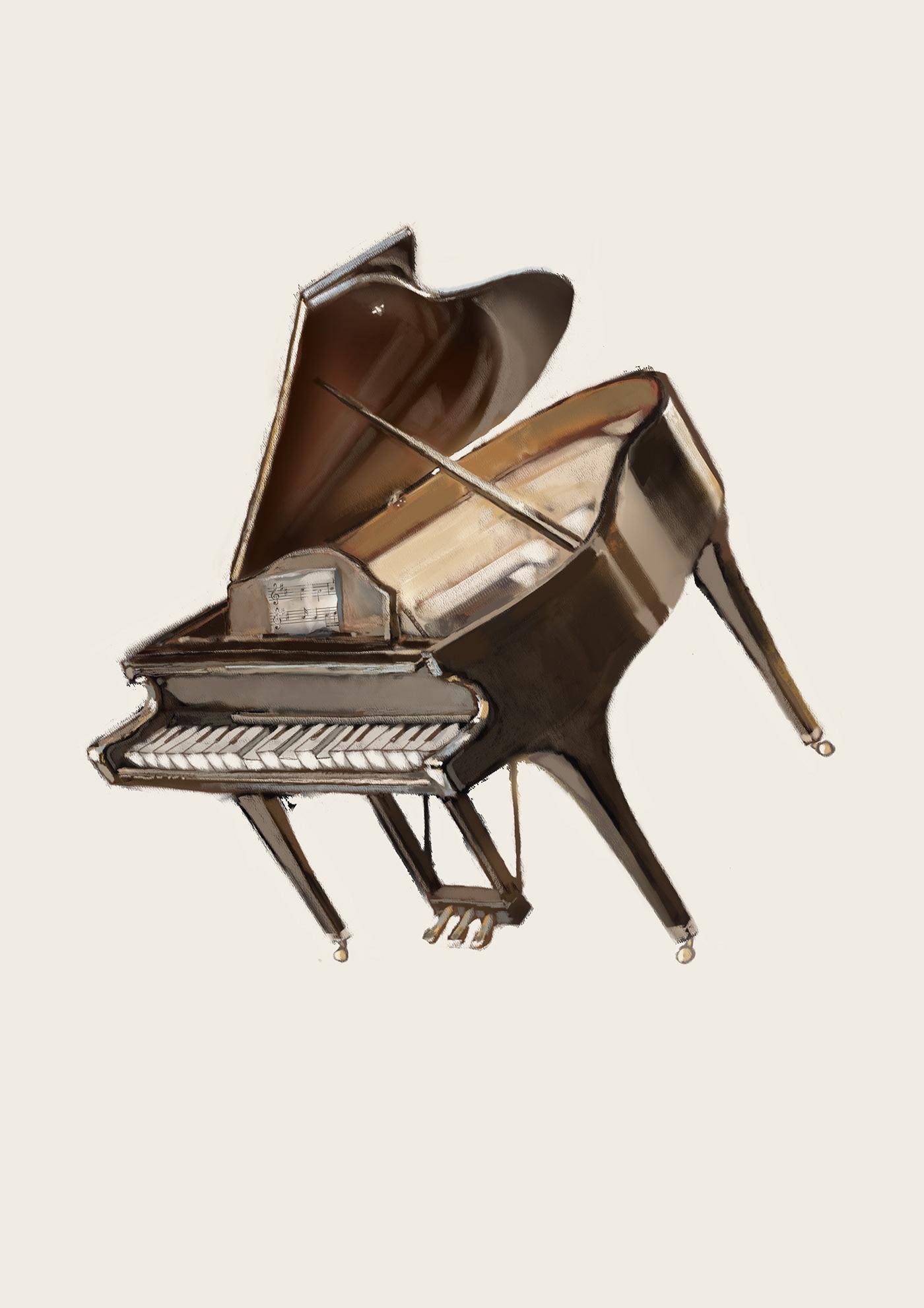 Image may contain: piano and musical keyboard