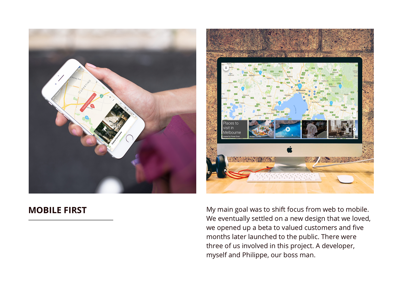 Stories UI mobile redesign map Mapme ux design hollywood got