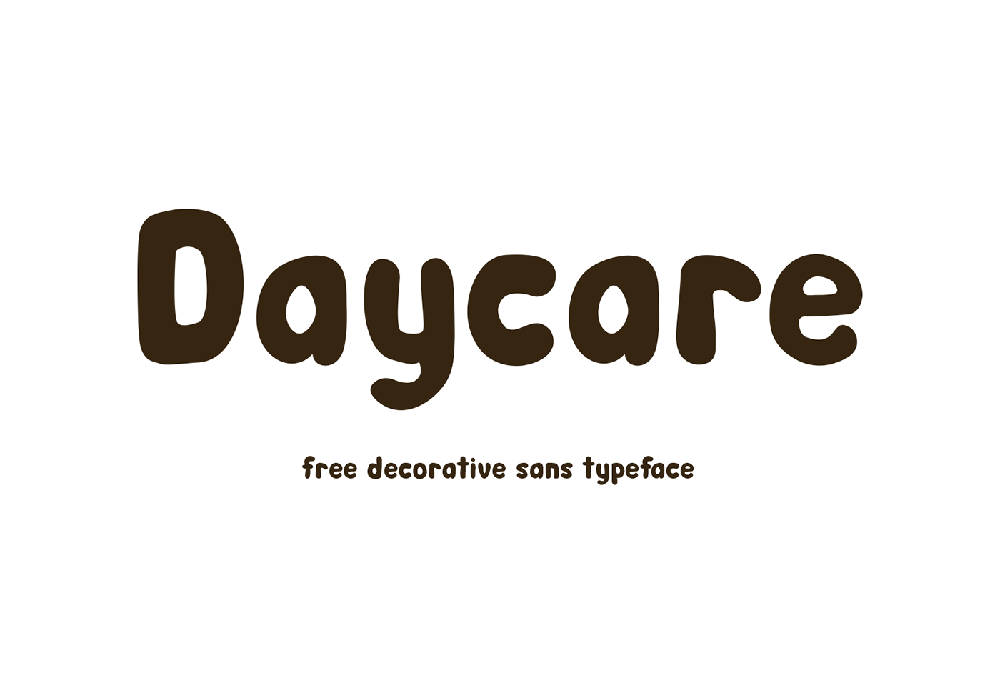 daycare free font pinspiry