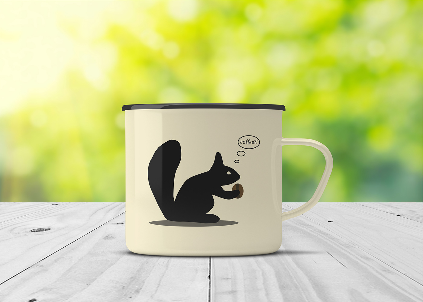 design cup of coffee squirrel Coffee cup chibby graphics design Mockup Drawing  drawinganimal