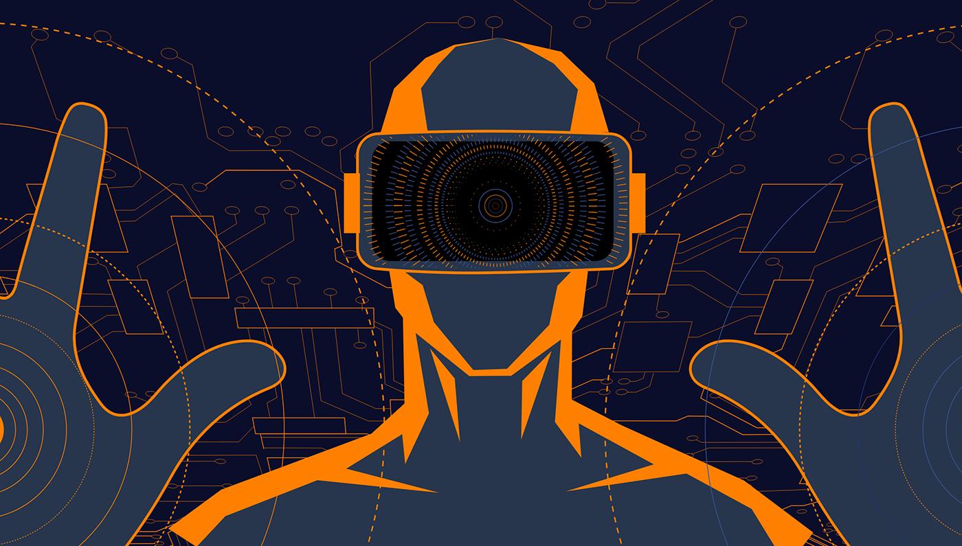 blockchain Virtual reality vr crypto ethereum