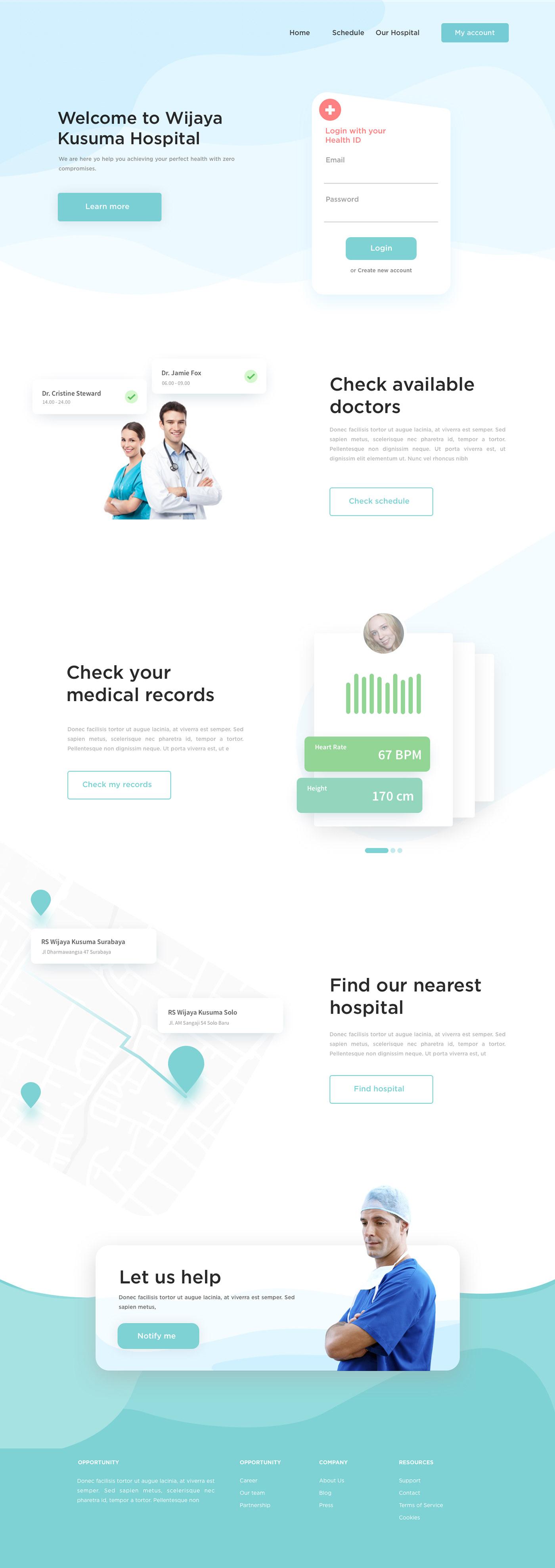 landing page homepage Website Web Design  UI ux minimal soft business