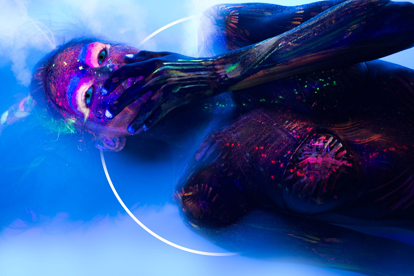 neon vixen UV photoshoot Photography  blacklight underwater water