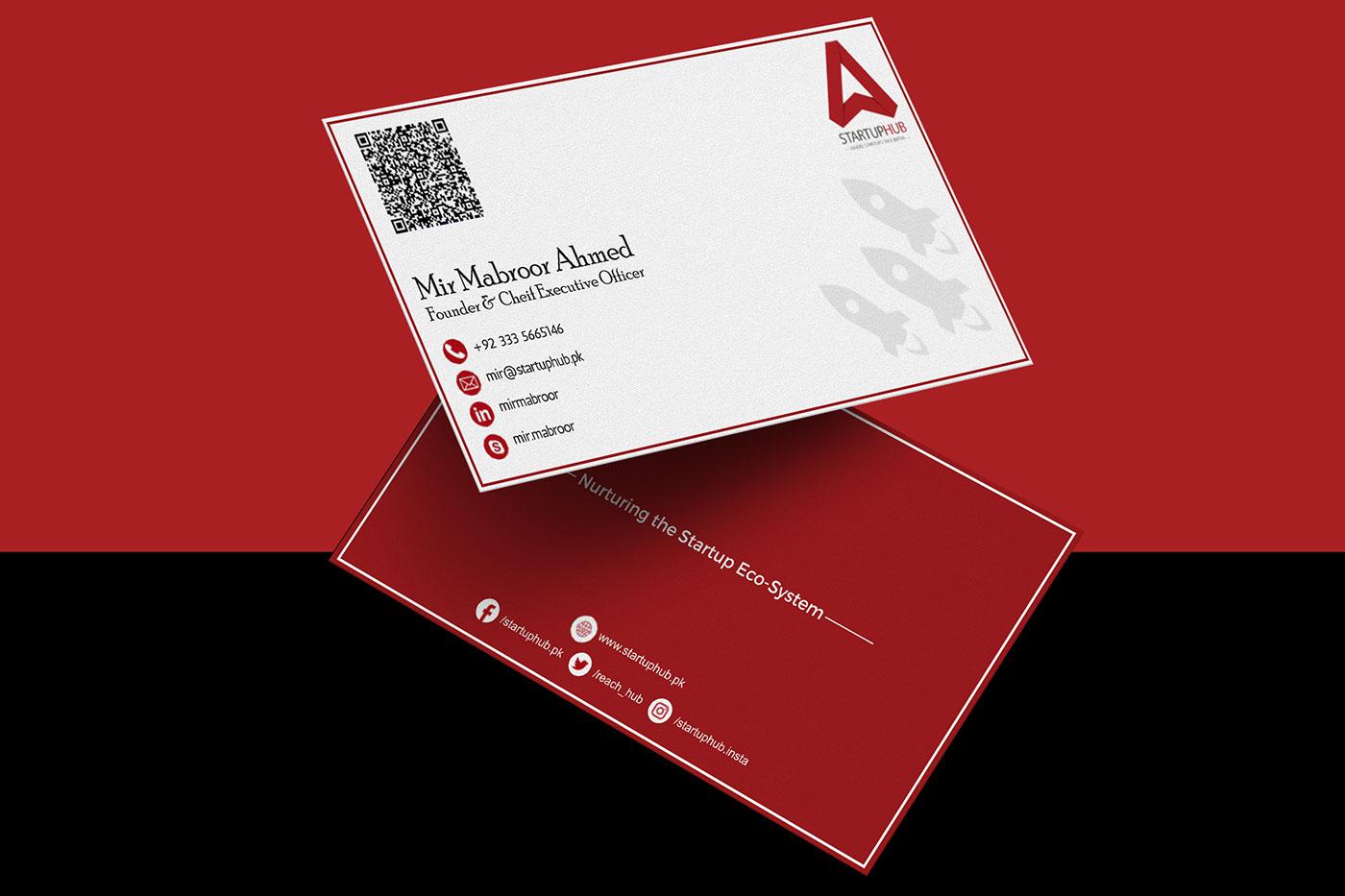 Startup hub business card on behance business card design for startup hub colourmoves