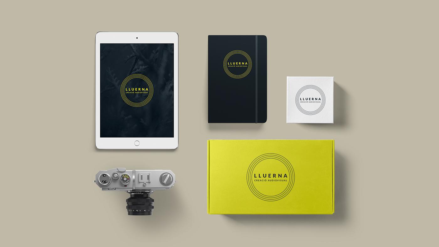 Photography  branding  yellow firefly lluerna luciernaga fotografo audiovisual Minimalism clean