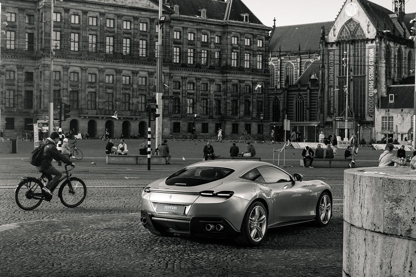 amsterdam Automotive Photography car photography Commercial Photography FERRARI ferrari roma roma